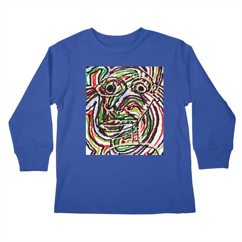 Strips Kids Longsleeve T-Shirt by viggo's Artist Shop