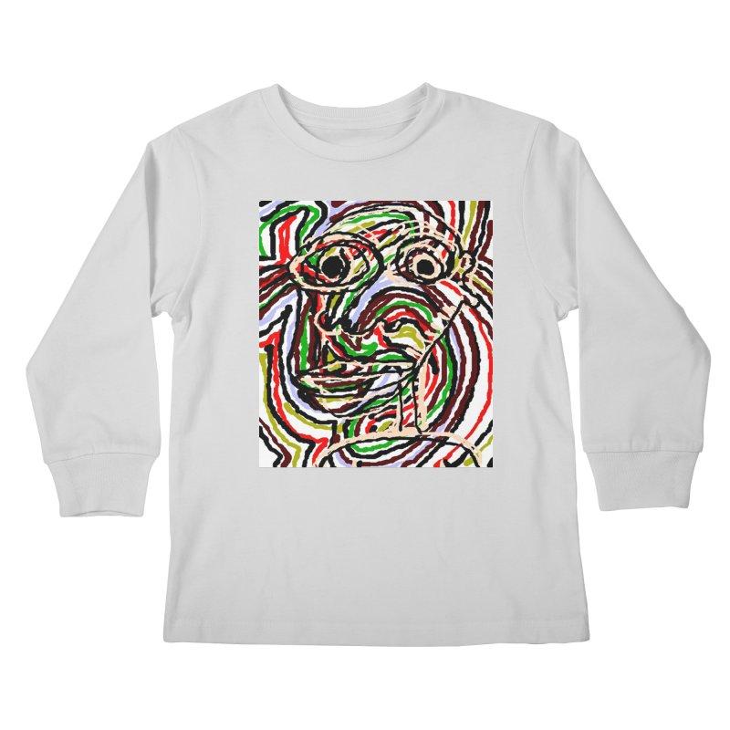 Strips Kids Longsleeve T-Shirt by viggo's Artist Shop