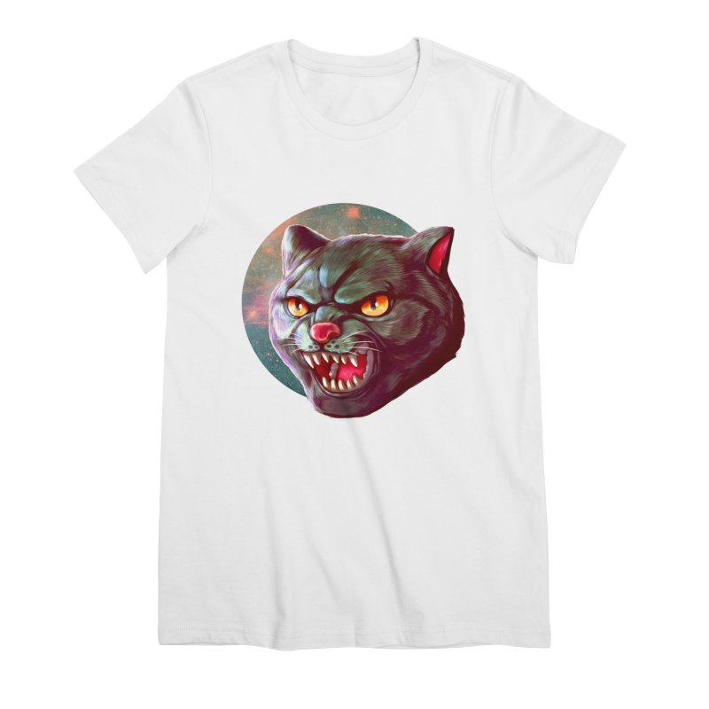 Space Cat Women's Premium T-Shirt by villainmazk's Artist Shop