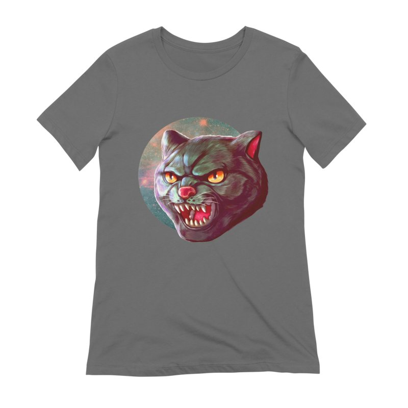 Space Cat Women's T-Shirt by villainmazk's Artist Shop