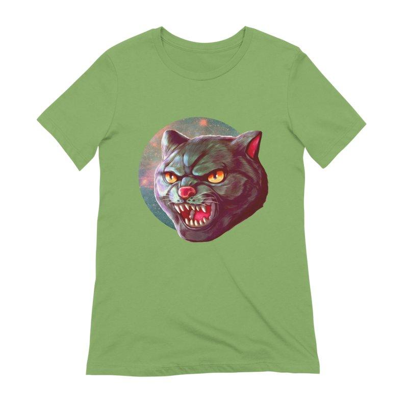 Space Cat Women's Extra Soft T-Shirt by villainmazk's Artist Shop