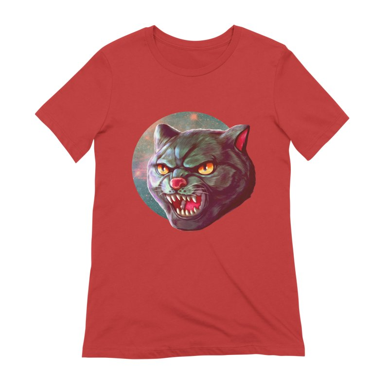 Space Cat Women's Extra Soft T-Shirt by villainmazk's Artist Shop