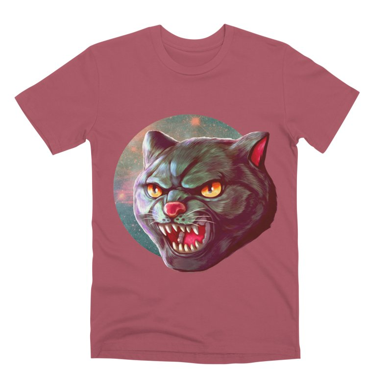 Space Cat Men's Premium T-Shirt by villainmazk's Artist Shop