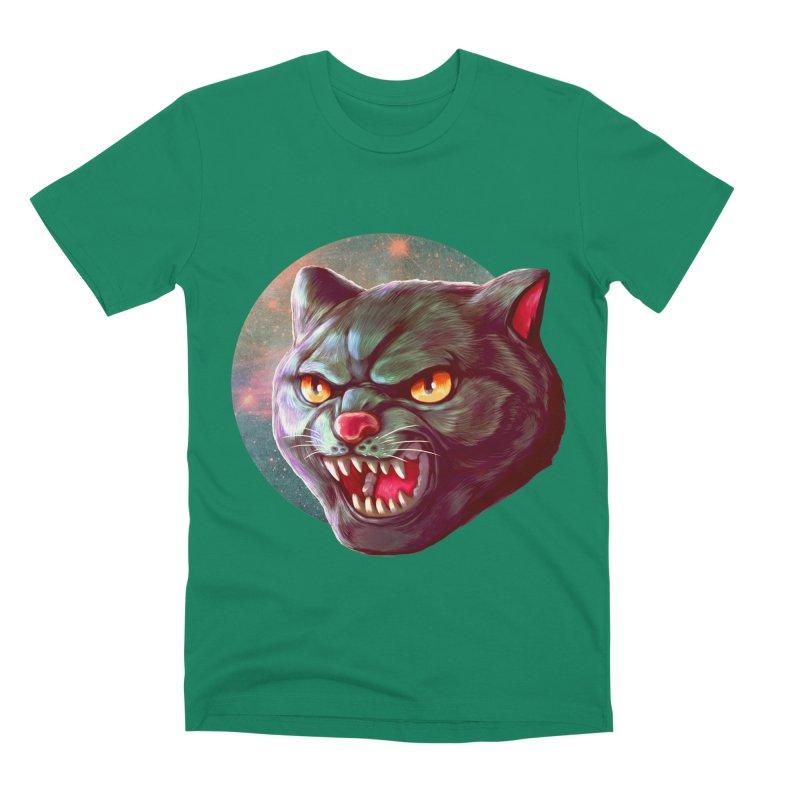 Space Cat Men's Premium T-Shirt by villainmazk's Artist Shop