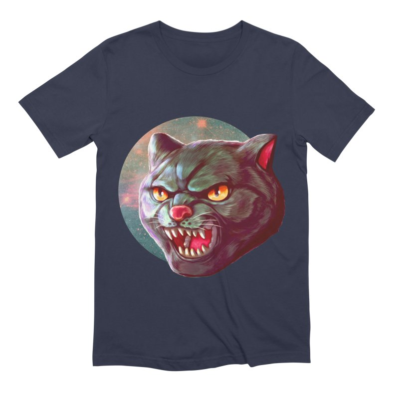 Space Cat Men's Extra Soft T-Shirt by villainmazk's Artist Shop