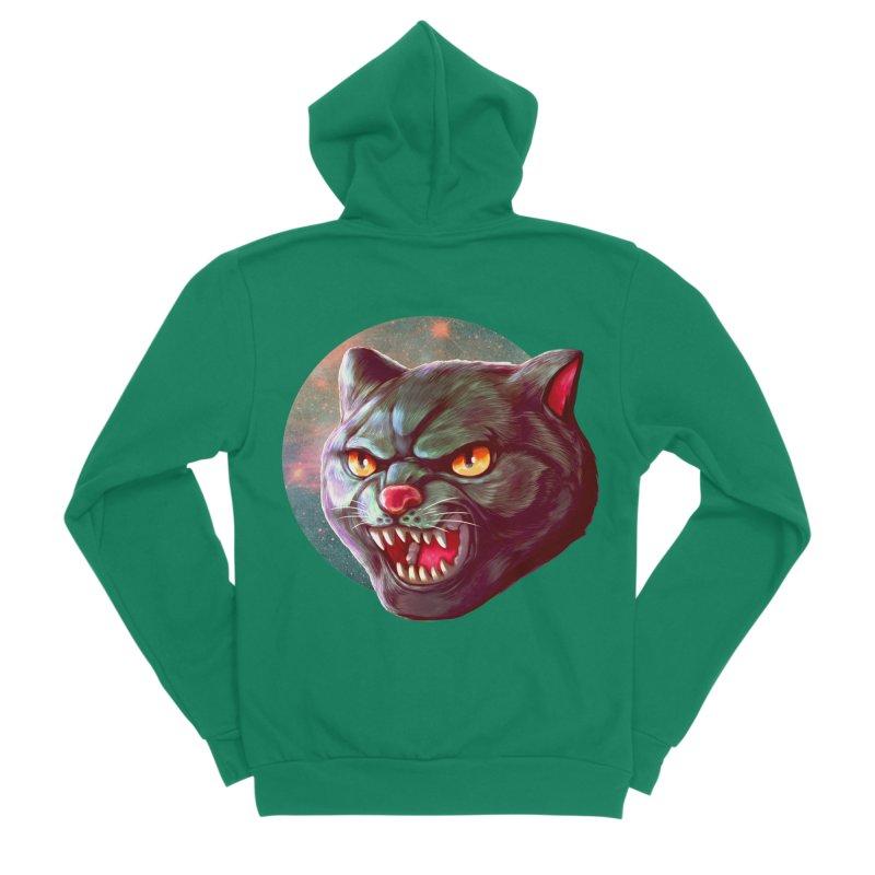Space Cat Men's Sponge Fleece Zip-Up Hoody by villainmazk's Artist Shop
