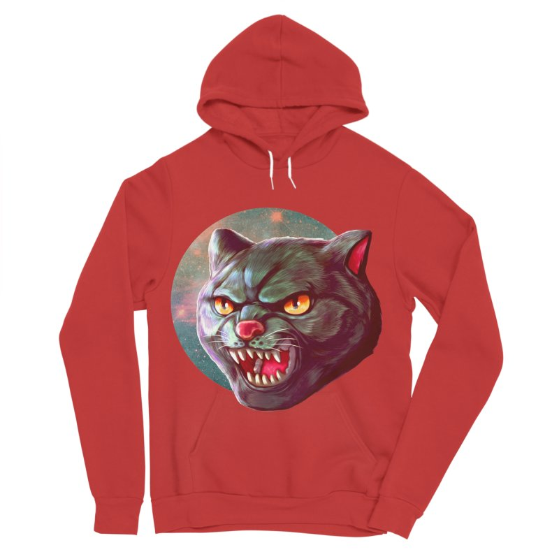 Space Cat Women's Sponge Fleece Pullover Hoody by villainmazk's Artist Shop