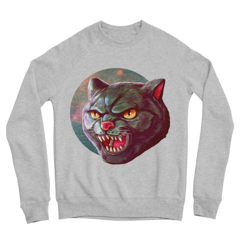 Space Cat Women's Sponge Fleece Sweatshirt by villainmazk's Artist Shop