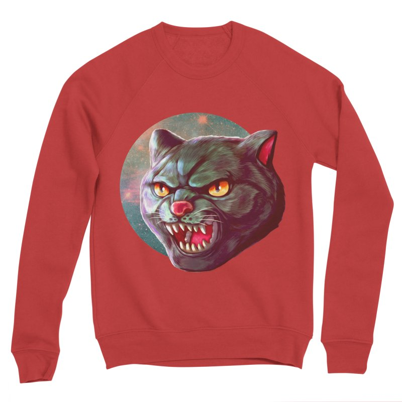Space Cat Women's Sponge Fleece Sweatshirt by villainmazk's Artist Shop