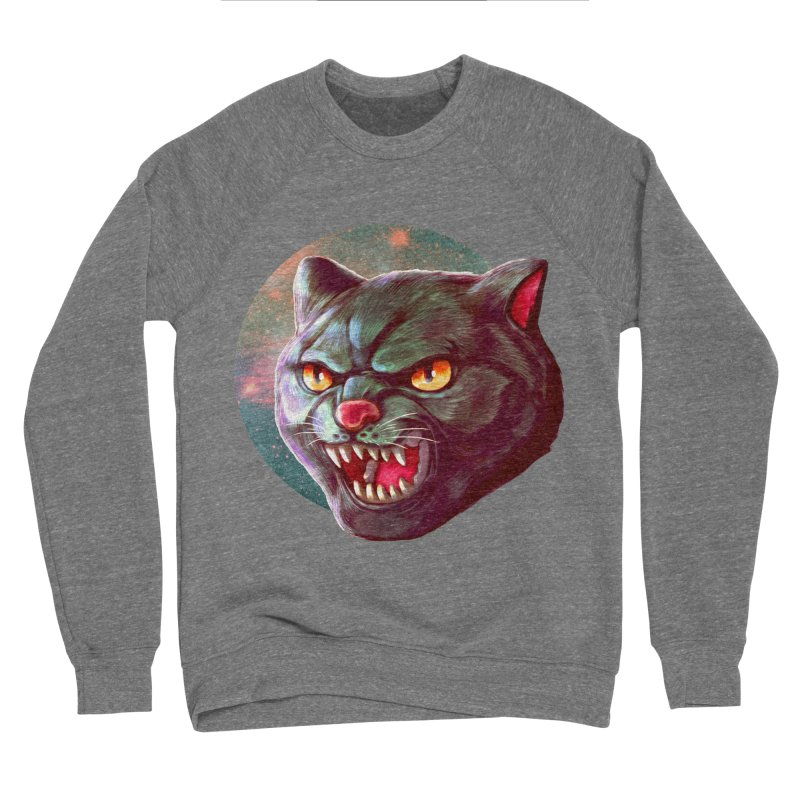 Space Cat Men's Sponge Fleece Sweatshirt by villainmazk's Artist Shop