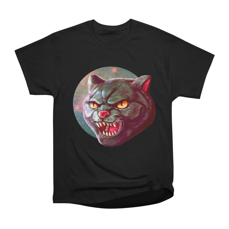 Space Cat in Men's Heavyweight T-Shirt Black by villainmazk's Artist Shop