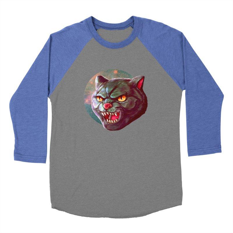 Space Cat Men's Baseball Triblend Longsleeve T-Shirt by villainmazk's Artist Shop