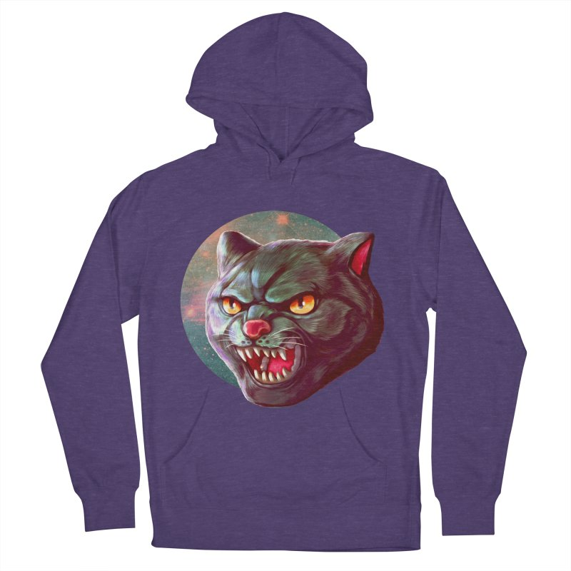 Space Cat Women's French Terry Pullover Hoody by villainmazk's Artist Shop