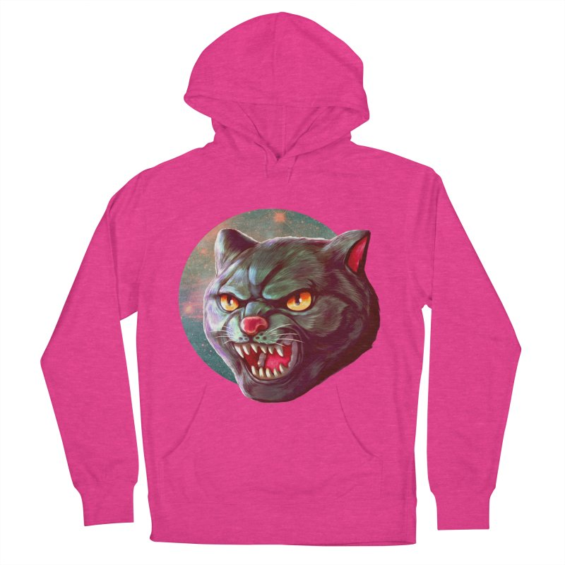 Space Cat Men's French Terry Pullover Hoody by villainmazk's Artist Shop