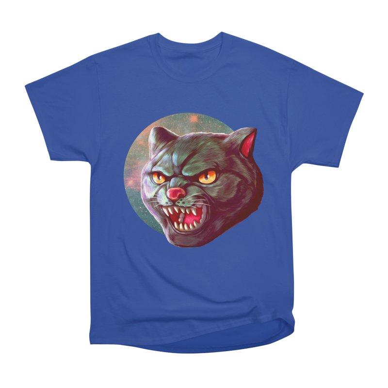 Space Cat Women's Heavyweight Unisex T-Shirt by villainmazk's Artist Shop