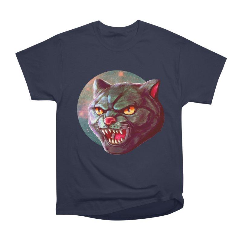 Space Cat Men's Heavyweight T-Shirt by villainmazk's Artist Shop