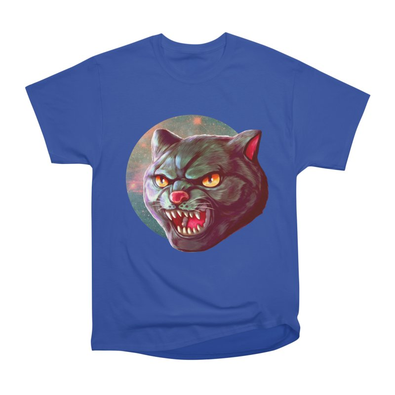 Space Cat Men's Heavyweight T-Shirt by villainmazk's Artist Shop