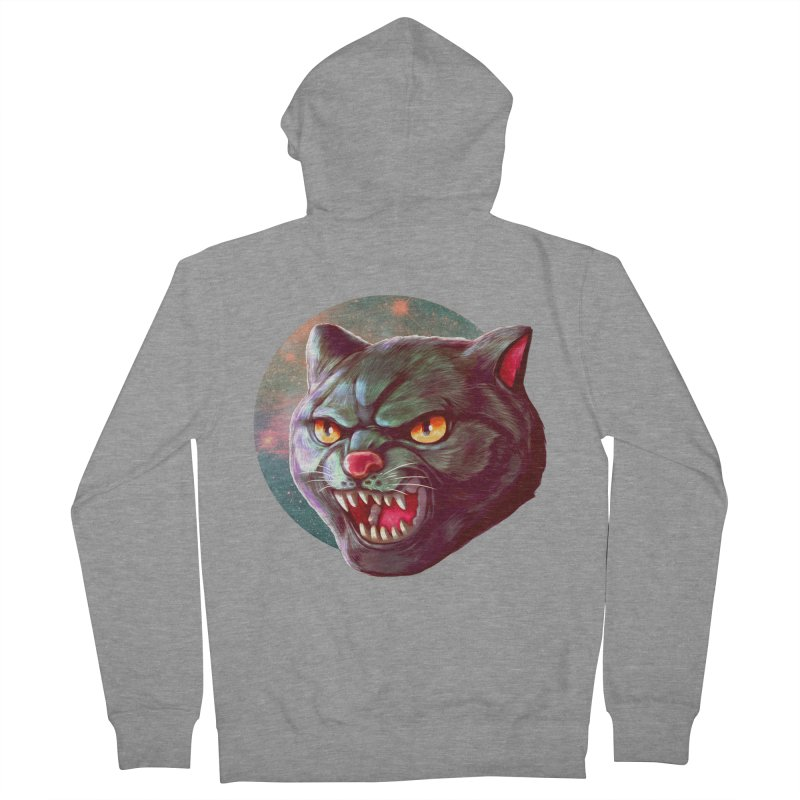 Space Cat Women's French Terry Zip-Up Hoody by villainmazk's Artist Shop