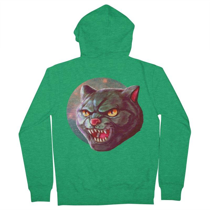 Space Cat Men's Zip-Up Hoody by villainmazk's Artist Shop