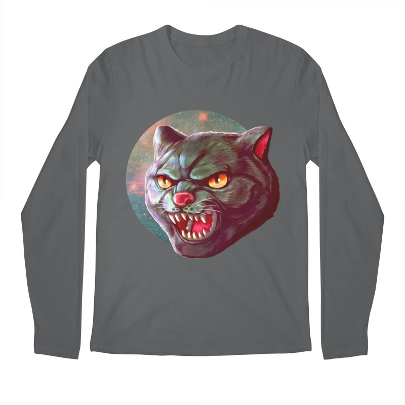 Space Cat Men's Regular Longsleeve T-Shirt by villainmazk's Artist Shop