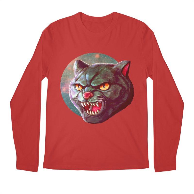 Space Cat Men's Regular Longsleeve T-Shirt by villainmazk's Artist Shop