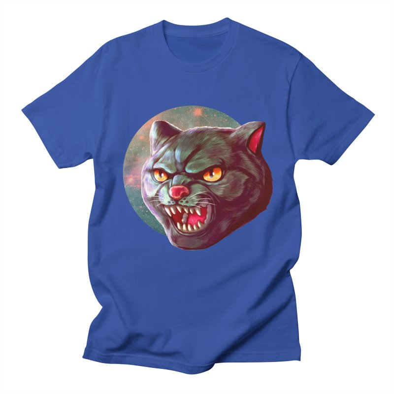 Space Cat Men's Regular T-Shirt by villainmazk's Artist Shop