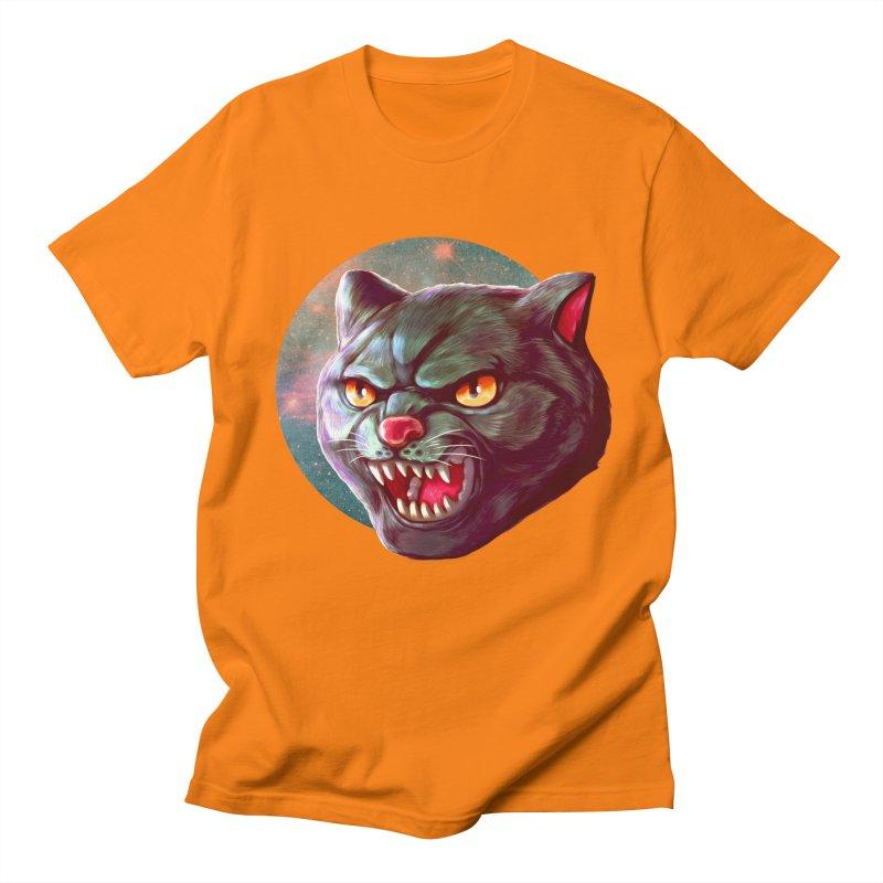 Space Cat Women's Regular Unisex T-Shirt by villainmazk's Artist Shop