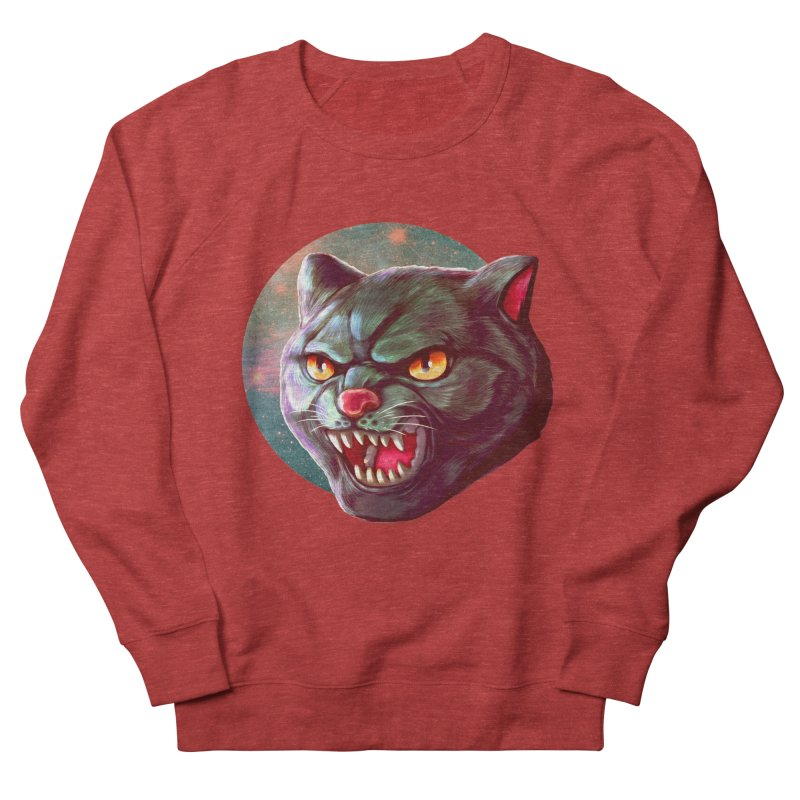 Space Cat Women's French Terry Sweatshirt by villainmazk's Artist Shop