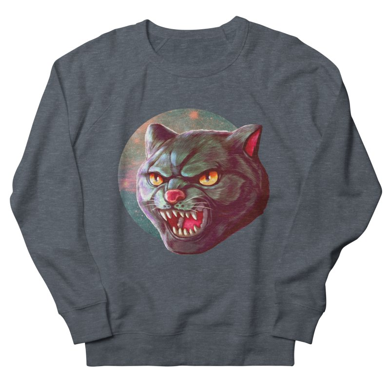 Space Cat Men's French Terry Sweatshirt by villainmazk's Artist Shop