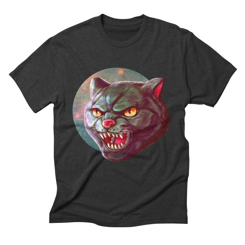 Space Cat Men's Triblend T-Shirt by villainmazk's Artist Shop