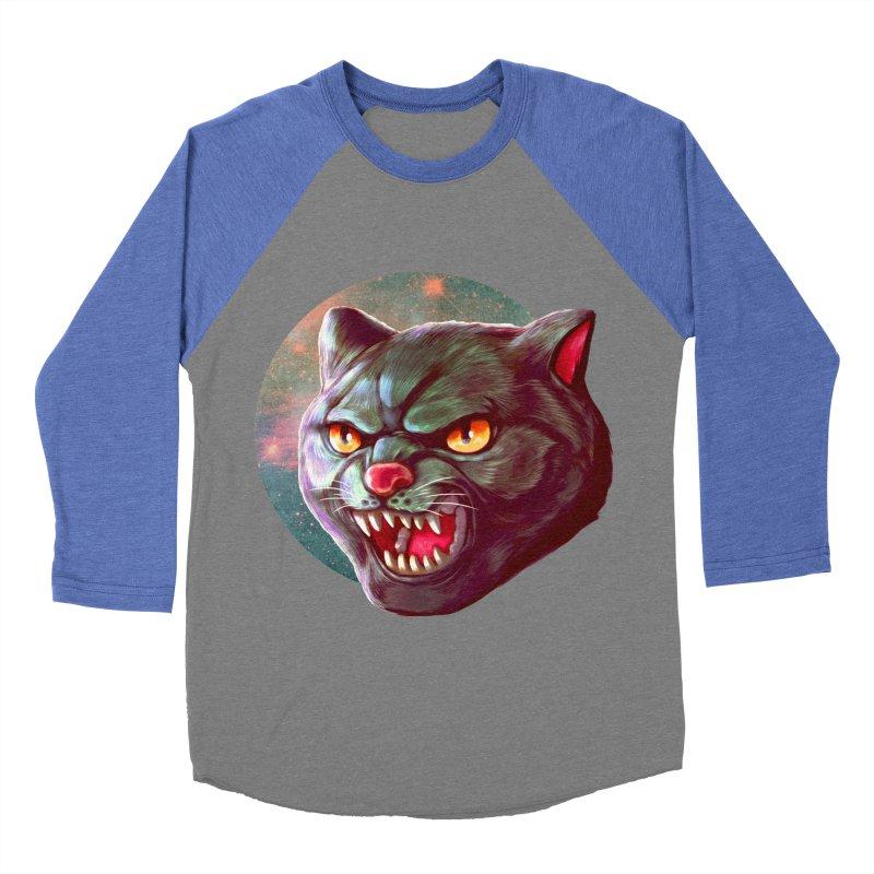 Space Cat Women's Baseball Triblend Longsleeve T-Shirt by villainmazk's Artist Shop