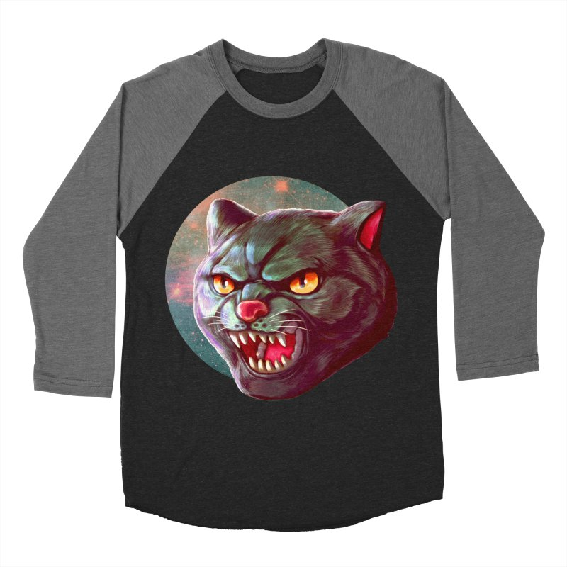 Space Cat Men's Baseball Triblend Longsleeve T-Shirt by villainmazk's Artist Shop
