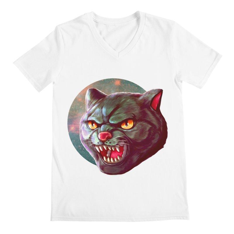 Space Cat Men's V-Neck by villainmazk's Artist Shop