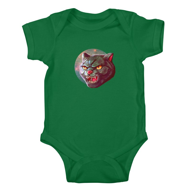 Space Cat Kids Baby Bodysuit by villainmazk's Artist Shop