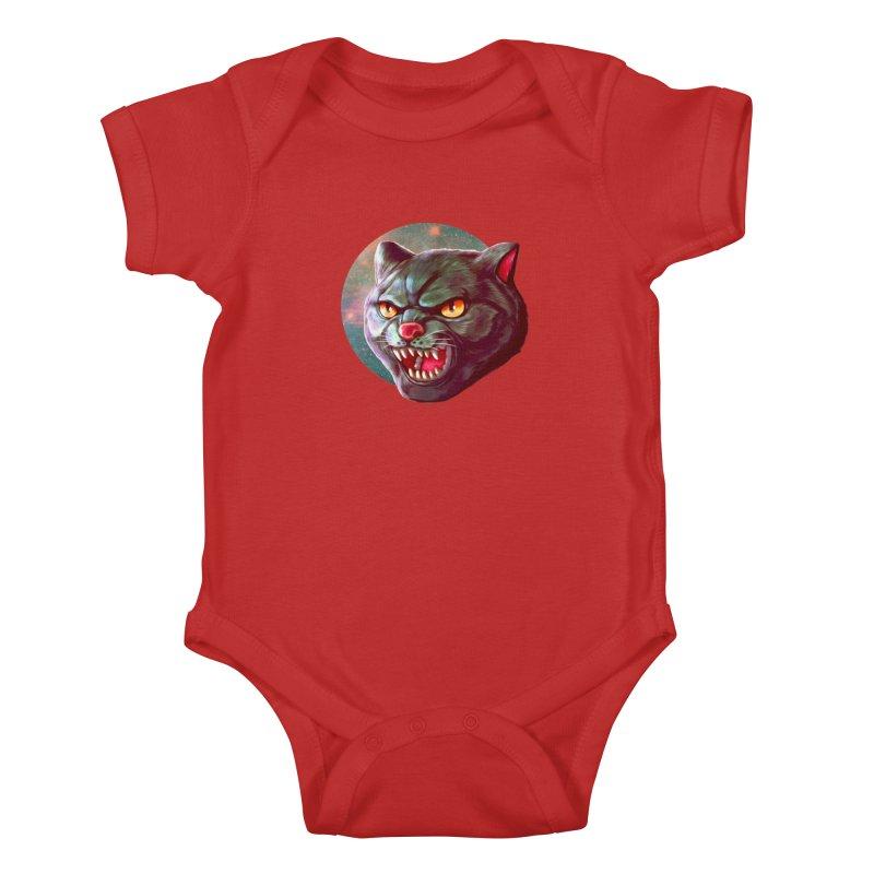 Space Cat Kids Baby Bodysuit by villainmazk's Artist Shop