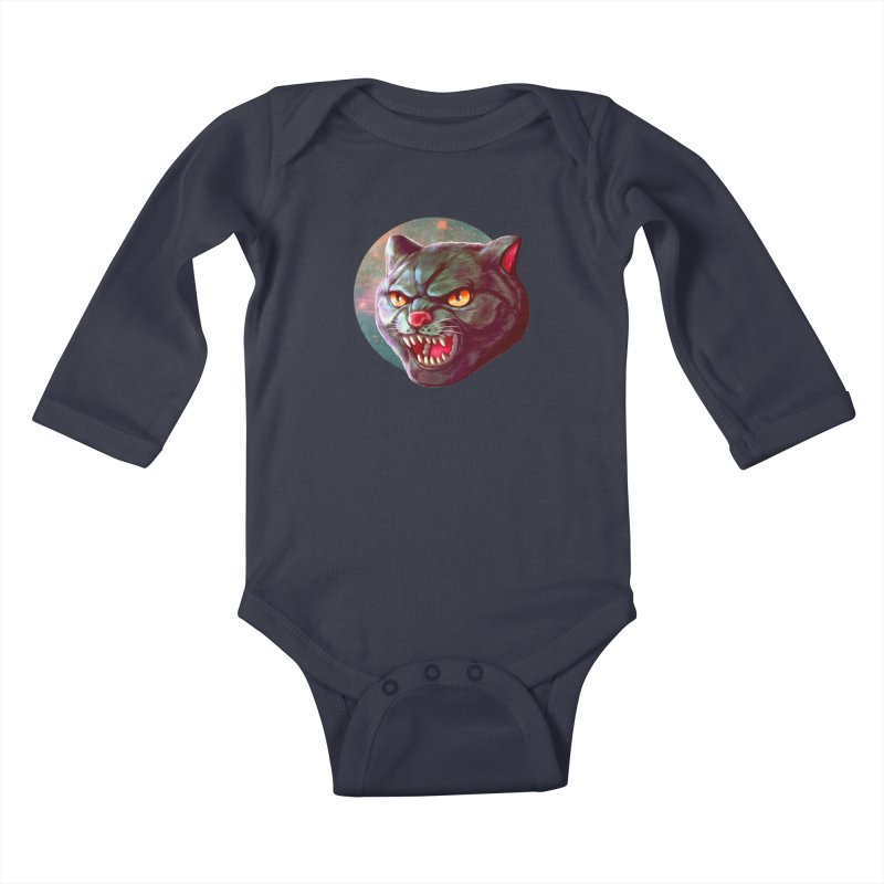 Space Cat Kids Baby Longsleeve Bodysuit by villainmazk's Artist Shop