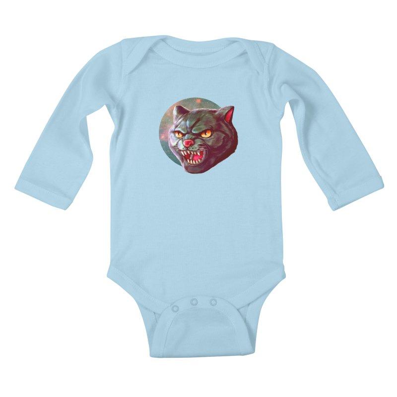 Space Cat Kids Baby Longsleeve Bodysuit by villainmazk's Artist Shop