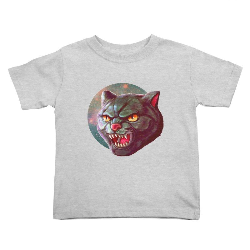 Space Cat Kids Toddler T-Shirt by villainmazk's Artist Shop