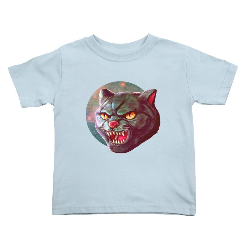 Space Cat Kids Toddler T-Shirt by villainmazk's Artist Shop