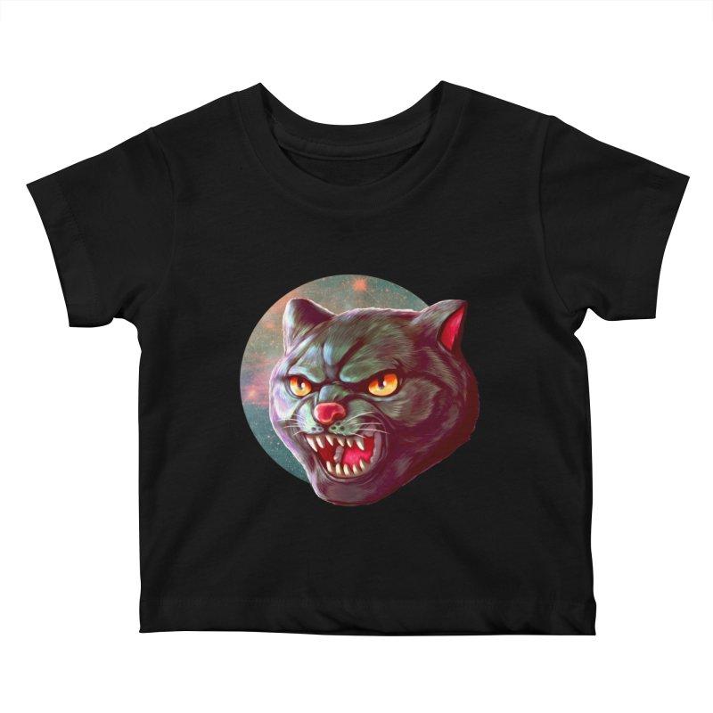 Space Cat Kids Baby T-Shirt by villainmazk's Artist Shop