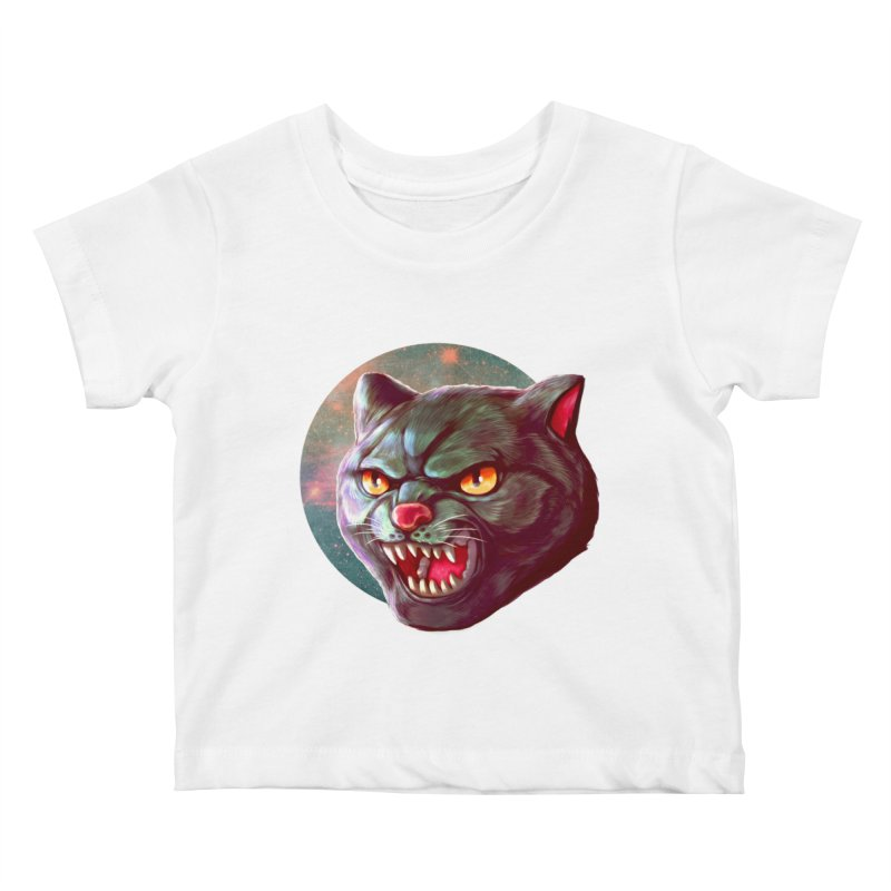 Space Cat Kids Baby T-Shirt by villainmazk's Artist Shop