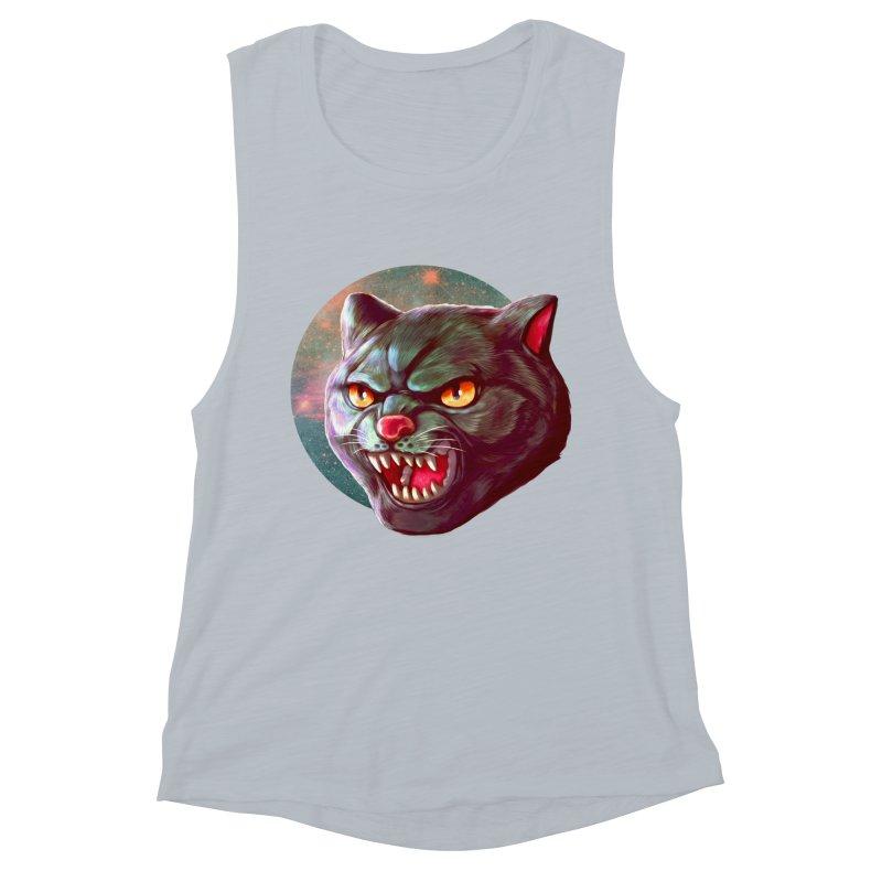 Space Cat Women's Muscle Tank by villainmazk's Artist Shop