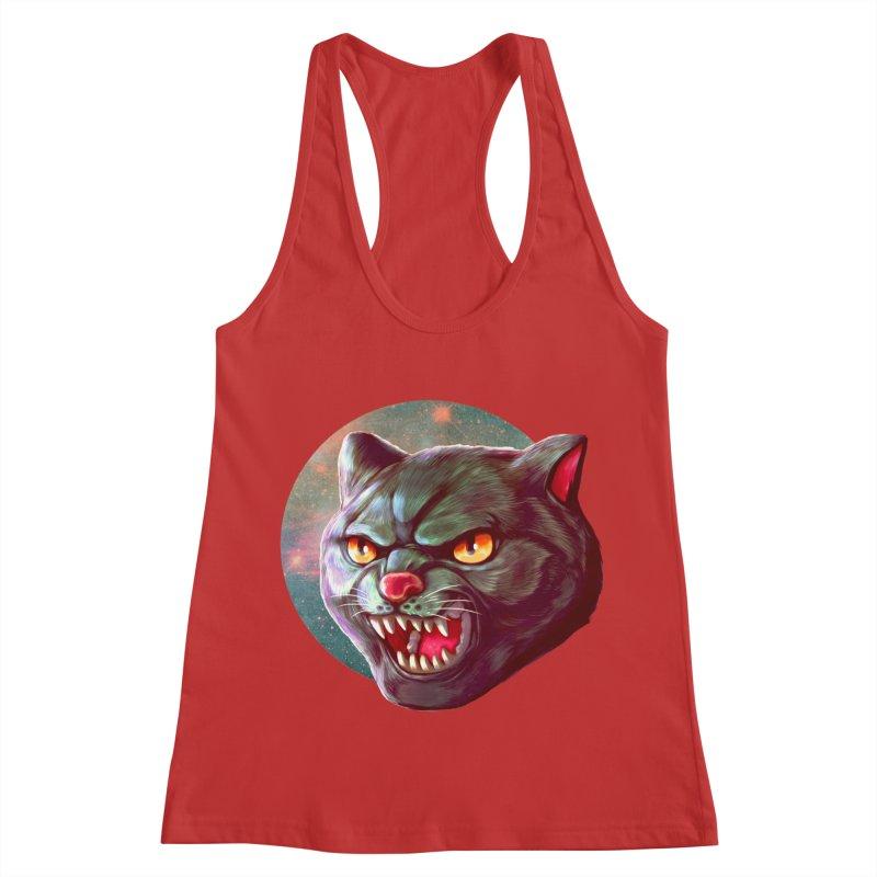 Space Cat Women's Racerback Tank by villainmazk's Artist Shop