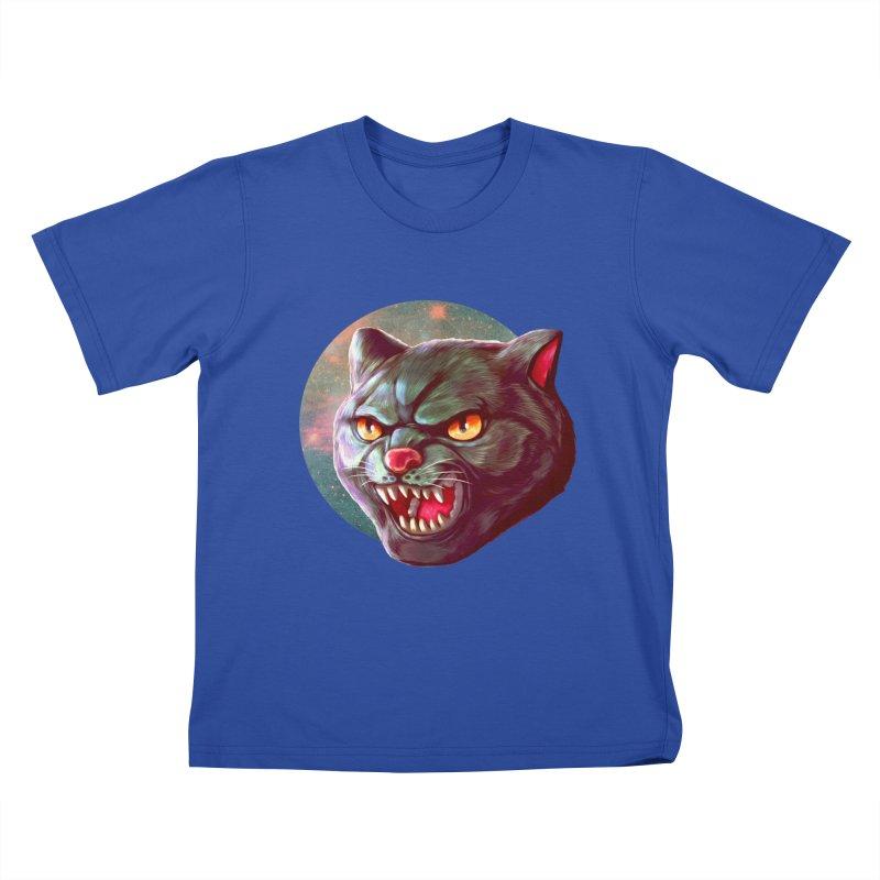 Space Cat Kids T-Shirt by villainmazk's Artist Shop
