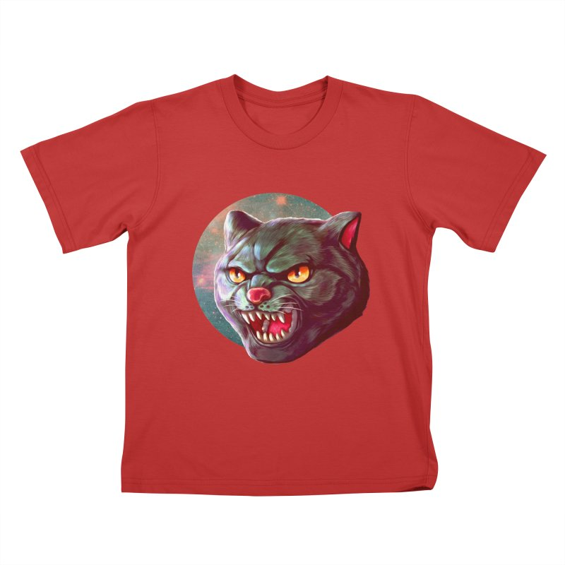 Space Cat Kids T-Shirt by villainmazk's Artist Shop