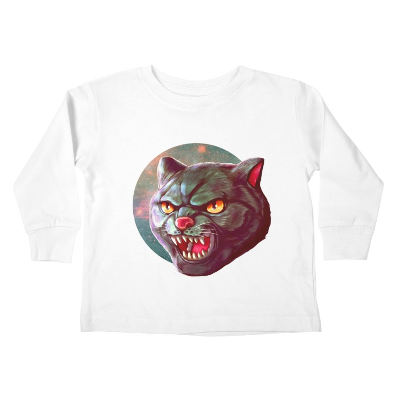 Space Cat Kids Toddler Longsleeve T-Shirt by villainmazk's Artist Shop