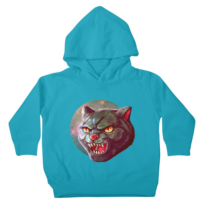 Space Cat Kids Toddler Pullover Hoody by villainmazk's Artist Shop