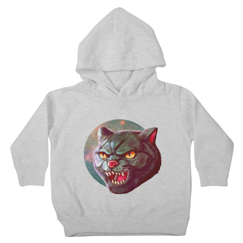 Space Cat Kids Toddler Pullover Hoody by villainmazk's Artist Shop