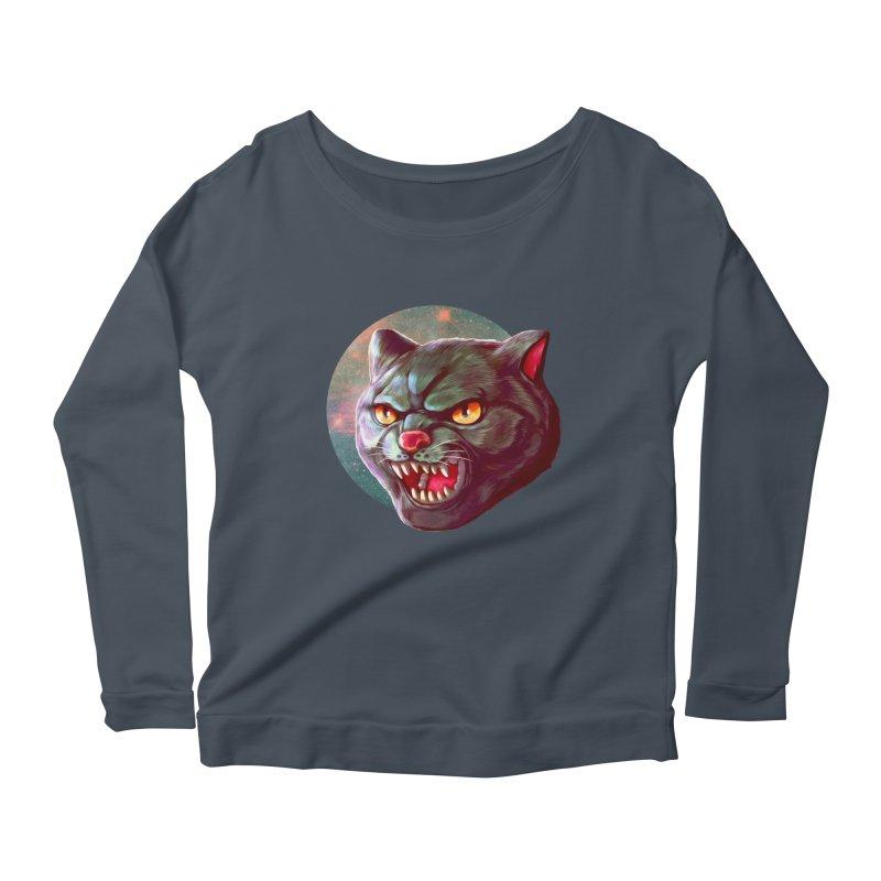 Space Cat Women's Scoop Neck Longsleeve T-Shirt by villainmazk's Artist Shop