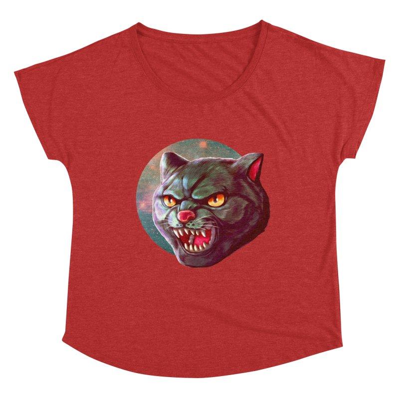 Space Cat Women's Dolman Scoop Neck by villainmazk's Artist Shop